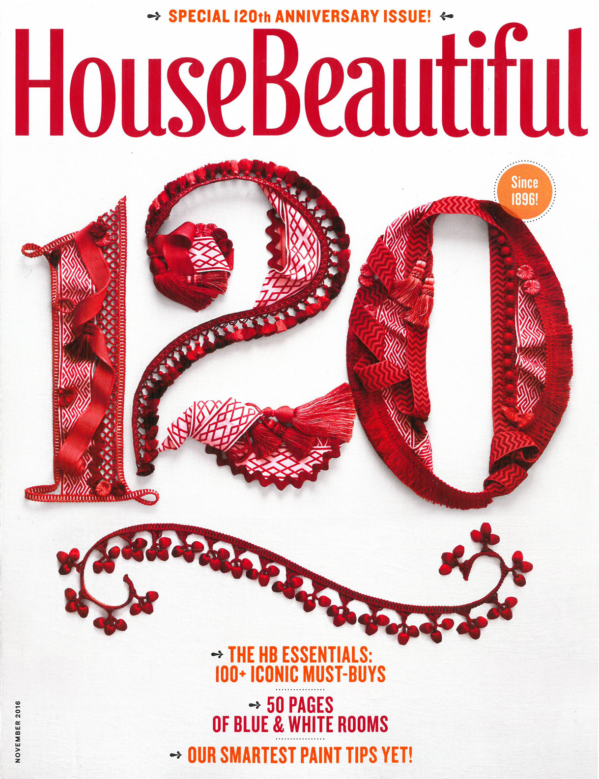 House Beautiful, November 2016, 1 of 5